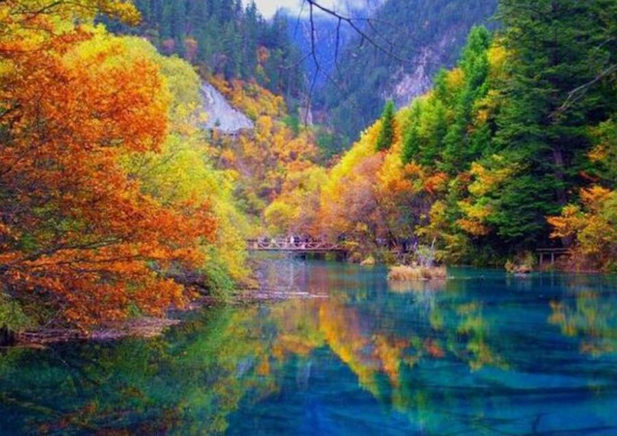 """""""Jiuzhaigou"""" is a 5A-level tourist attraction in our country(China)"""